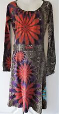 New Desigual Ladies Dress, Scoop Neck, Snake Grey&Multi, Size L