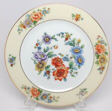 KPM - Malines with Gold Trim Cream Band - Salad Plate(s) - Floral Design Germany