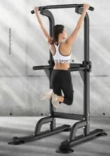 Power Tower Dip Station Pull Up Push Up Bar Home Gym Strength Training Equipmnt
