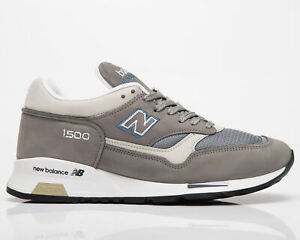 New Balance 1500 Made In UK Men's Grey Slate Blue Casual Lifestyle Sneakers Shoe