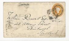 India: British, Postal Stationery, year 1892, used, Bombay to Scottland. BRI03