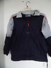 Fila Sport Youth Size 10 Navy blue  Pull-Over Windbreaker Jacket