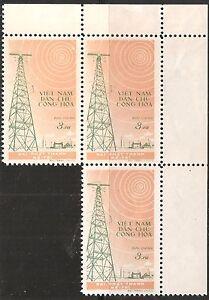 North Vietnam Stamp - Scott #100/A38 3xu Sheet of 3 WG Mint/LH 1959