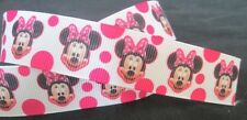 Minnie Mouse Pink 7/8 Inch Grossgrain Ribbon - One Metre - Cake Trim Craft