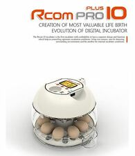 RCom Pro10 Plus Egg Incubator Automatic Quail Chick Avian Digital KOREA New