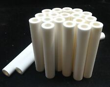 "4.5"" LONG HIGH PURITY THICK-WALLED ALUMINA CERAMIC TUBE REFRACTORY No.: 214"