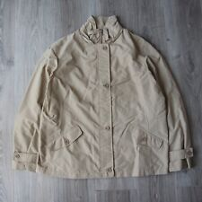 Mens Vintage Lands End Jacket XL Soft Shell Mac Peacoat Coat Waterproof