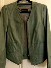 Zadig & Voltaire Deluxe Soft Lamb Leather Light Green Jacket Size S