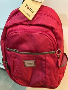 totto backpack pink limited edition tumer pc 45 cm bag rucksack new with tags