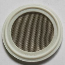 """1.5"""" Sanitary PTFE Tri-Clamp Screen Gasket Stainless Steel SS304L 150 Mesh"""