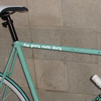 """""""less gears more beers"""" fixed gear fixie single speed bicycle bike sticker decal"""