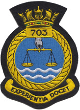 703 NAS Naval Air Squadron Royal Navy FAA Crest MOD Embroidered Patch