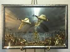 Canada Goose Taking Flight Metal Sculpture Wall Art *Signed*