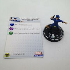Heroclix Incredible Hulk set Major Glenn Talbot #102 Limited Edition fig w/card!