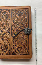 Journal Celtic Braid Knot, Hard Body Leather Embossed Journal With Unlined Page