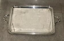 Large Vintage Christofle silver plated drinks serving tray Hallmarked 68 x 42 cm