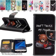 Magnetic Flip Cover Holder Slot Wallet Leather Case Pouch Bag For Various Phones