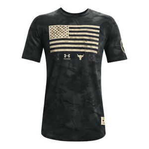 Under Armour 1368408 Mens UA Project Rock Veterans Day Flag Short Sleeve T-Shirt