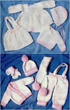 "VINTAGE KNITTING PATTERN 14-17"" BABY DOLLS CLOTHES 9 ITEMS TO KNIT"