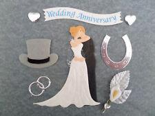 *WEDDING ANNIVERSARY Couple* WEDDING CARD MAKING & SCRPABOOKING EMBELLISHMENTS