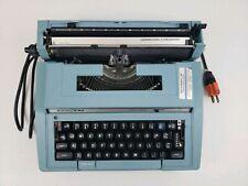 Vintage Working Blue Smith Corona Electra C/T Electric Typewriter Case Paperwork