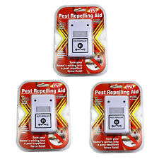 3 PCS Electronic Pest Repellent for Rodents Roaches Ants Spiders. As Seen on TV
