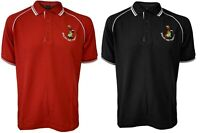 New Men's Black Welsh And Thirsty Logo Polo Pique T-shirt Top