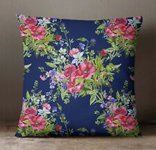 S4Sassy Floral Blue Case Decorative Pillowcases Square Cushion Cover Throw