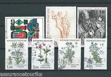 TABLEAUX PLANTES - 1983 YT 2263 à 2269 - TIMBRES OBLITÉRÉS