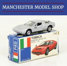 Tomica F45 Maserati Merak SS silver Made in Japan VINTAGE Foreign series BOXED