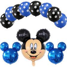 11 pcs Disney Mickey Mouse Birthday Foil Balloons Party Decorations Latex Set