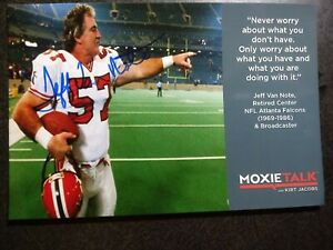 JEFF VAN NOTE Hand Signed Autograph 4X6 Photo - NFL 6 TIME PRO BOWL CENTER
