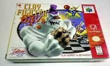 Clay Fighter 63 1/3 (Nintendo 64, 1997) N64 IN BOX VERY GOOD CONDITION
