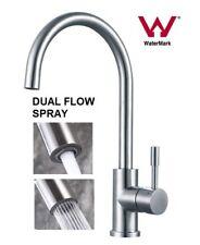 NEW Watermark SUS 304 Stainless steel kitchen bathroom dual spray mixer tap WELS