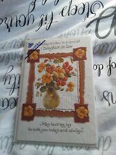 Daughter in law birthday Card BNIP - flowers