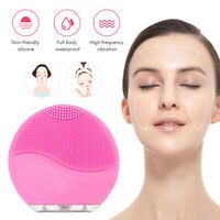 Facial Silicone Electric Face Cleansing Brush Rechargeable Cleanser Skin Care