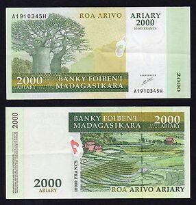 Madagascar 2000 ariary  2003 SPL+/XF+  A-07
