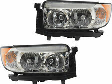 2006 - 2008 SUBAR FORESTR HEAD LAMP LIGHT HALOGEN W/O SPORT PKG LEFT & RIGHT SET