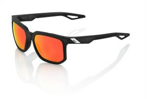 100% Centric Sunglasses, Crystal Black/Red - HiPER Red Mirr
