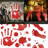 3D Red Bloody Blood Hand Print Vinyl Car Decal Zombie Creepy Dead Sticker