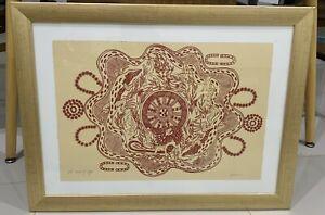 "Aboriginal Painting Artwork ""seeds Of Life"" Beautiful Framed"