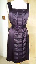 Élégant Phase Eight prune/violet/aubergine soie plis Robe Taille UK 12 Neuf avec étiquettes