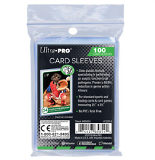 (500) Ultra Pro Antimicrobial Trading Card Sleeves Safely Keeps Cards Germ Free