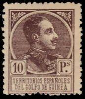 "SPANISH GUINEA 170 (Mi82) - King Alfonso XIII ""1919 Printing"" (pf2826)"