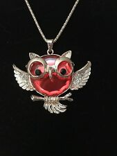 Golden Owl With Giant Red Gem As The Body Great For TEACHER APPRECIATION!
