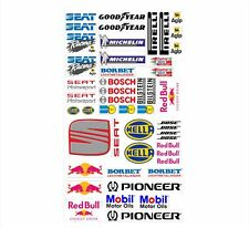 SEAT Logo Autoaufkleber Sponsoren Marken Aufkleber Decals Tuning Sticker Set