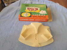 VINTAGE LUCKIES CARD SHUFFLE - MADE FOR CHADWICK-MILLER IN HONG KONG - W/ BOX