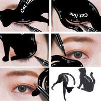 2Pcs Cat Line Pro Eye Makeup Tool Eyeliner Stencils Template Shaper Model Black