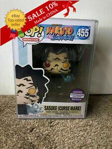 Funko Pop! Anime: Naruto Shippuuden SASUKE(CURSE MARK)#455 with protective cover