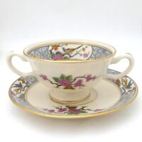 Lenox Ming Birds Footed Bouillon Cup and Saucer Lot of 4